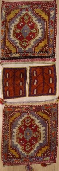 R7952 Vintage Turkish Carpet Saddle Bags