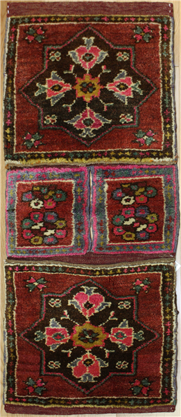 Vintage Turkish Carpet Saddle Bags R7958