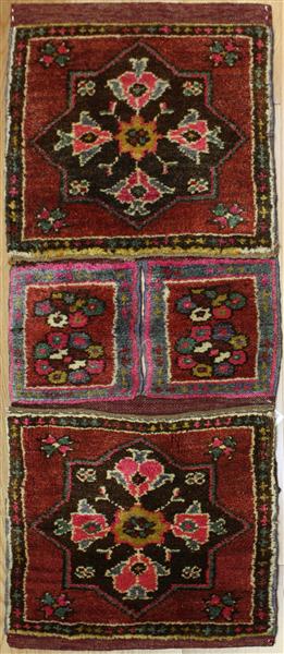 Vintage Turkish Carpet Saddle Bags R7958