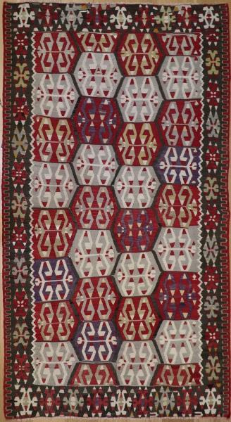 R8734 Vintage Turkish Esme Kilim Rug