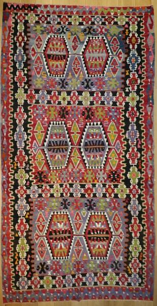 R8737 Vintage Turkish Esme Kilim Rug