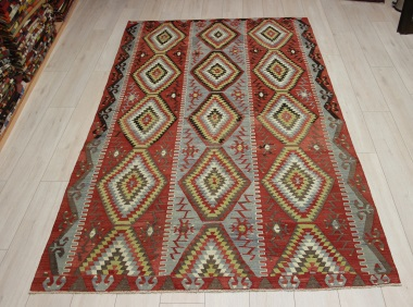 R9089 Vintage Turkish Esme Kilim Rugs