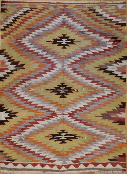 R6845 Vintage Turkish Kilim Rug