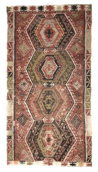 R8026 Vintage Turkish Kilim Rug