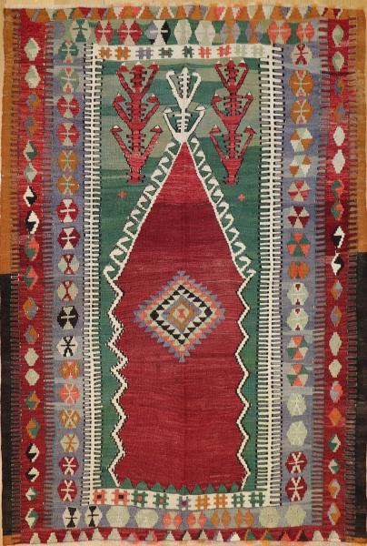 R8180 Vintage Turkish Kilim Rug