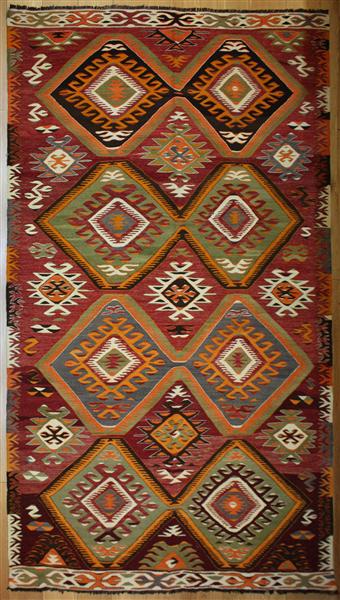 R8212 Vintage Turkish Kilim Rug