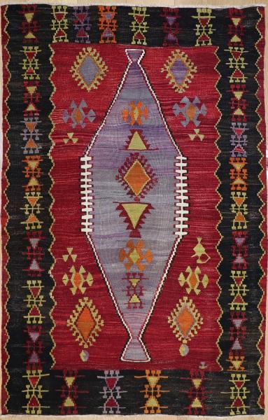 R8715 Vintage Turkish Kilim Rug