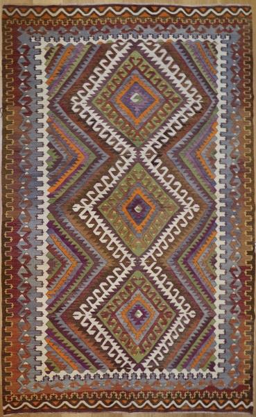 R8754 Vintage Turkish Kilim Rug