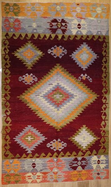 R8756 Vintage Turkish Kilim Rug