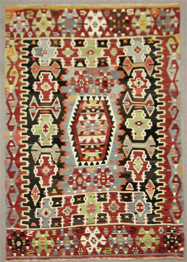 Vintage Turkish Kilim Rug R7877