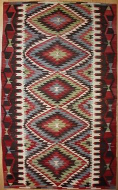 R8019 Vintage Turkish Kula Kilim Rug