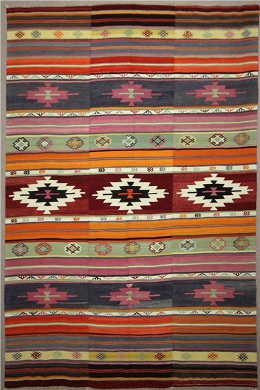 Vintage Turkish Large Kilim Rugs R7869