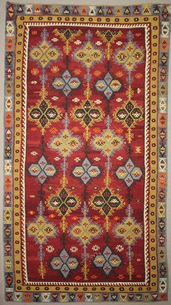 R7846 Vintage Turkish Sivas Sarkisla Kilim Rug