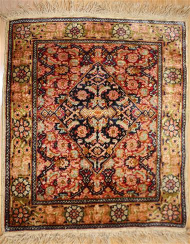 Wonderful Turkish Hereke Silk Rug R944