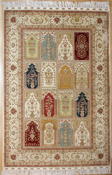Wonderful Turkish Silk Carpet R7972