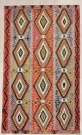 R8072 Antique Turkish Esme Kilim Rug