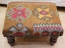 Kilim covered Footstool R7749