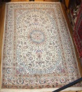 Persian Silk and wool Nain Carpet R7966