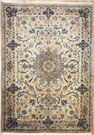 R8463 Persian Silk and wool Nain Rugs