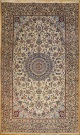 R8623 Persian Silk and Wool Nain Rugs