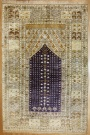 R7762 Wonderful Hand Woven Turkish Silk Ghiordes Carpet